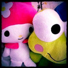 MyMelody & Keroppi. So cute!