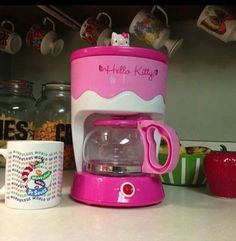 Hello Kitty Coffee Maker - Must have. Rilakkuma, Pusheen, Hello Kitty Imagenes, Hello Kitty Kitchen, Just In Case, Just For You, Wonderful Day, Hello Kitty Items, Hello Kitty Collection