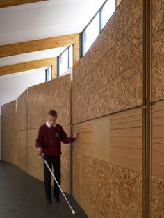 brail used on a wall for blind people. I love this idea! how can i turn a wall into something special but also functional and useful