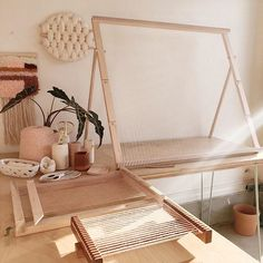 """I first designed this adjustable large loom back in 2015 with Dustin Stewart of DGStewartHardgoods. It's been so popular that we added bar extenders as an option to increase the width of the large loom to 36"""" x 30. Available in maple, each loom and bar extender comes with a matching weaving sword to make plain weave even easier. Rachel Denbow @smileandwave Nikon Camera Tips, Camera Hacks, Canon Cameras, Nikon Dslr, Canon Lens, Camera Gear, Film Camera, Smile And Wave, Amigurumi"""