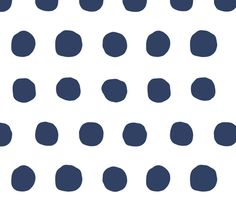 Jumbo Dots in navy/white fabric by domesticate on Spoonflower - custom fabric $60/r0ll