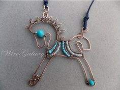Wire Horse  Sculpture by WireGalaxy on Etsy Wire Horse Sculpture of copper wire with beads.  A wonderful decoration for the interior of your home.  size 10cm