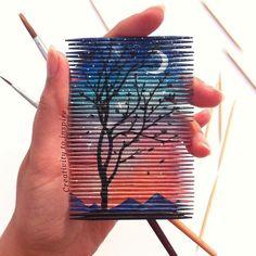 Cool cocktail sticks art work