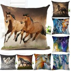 20 Inches Wild Horse Cushion Cover PillowCase 60%OFF