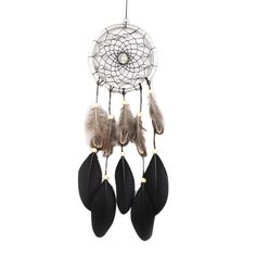 45 Cm Handmade Dreamcatcher Black Feather Lace Indian Dream Catcher Bead Hanging Decoration Ornament Gift For Car/home Decor photo ideas from Amazing Home Decor Photo Ideas Dream Catcher Price, Dream Catchers For Sale, Black Dream Catcher, Small Dream Catcher, Feather Dream Catcher, Hanging Beads, Hanging Ornaments, Hanging Decorations, Dream Catcher Native American