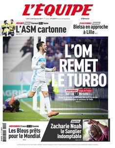 L'Équipe - Lundi 9 Janvier 2017 - N° 22817