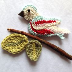 Lovely little bird...cool tutorial...Cath Kidston Crochet Garden Birds - Ruby & Custard
