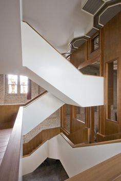 Solid balustrade with wood clad interior and risers. Simple but nice clean lines.