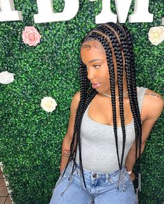 braids with beads H.E LLC on Instagra - beading Box Braids Hairstyles, Frontal Hairstyles, Braided Hairstyles For Black Women, Braids Wig, My Hairstyle, African Hairstyles, Girl Hairstyles, Box Braid Wig, Cornrows