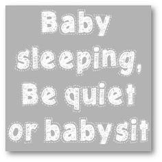 Baby Sleeping Grey