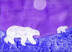 Trendy winter art projects for kids teaching polar bears 29 ideas Winter Art Projects, Winter Project, School Art Projects, Projects For Kids, Winter Craft, Kids Crafts, Kindergarten Art, Preschool Art, Polar Bear Paint