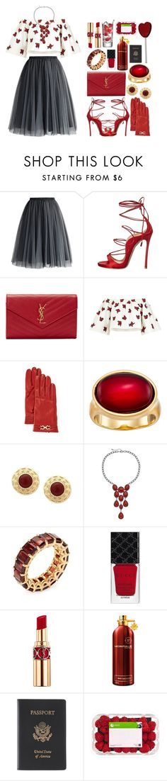 """""""he already knows that my love is fire"""" by iradicate ❤ liked on Polyvore featuring Chicwish, Dsquared2, Yves Saint Laurent, House of Holland, Salvatore Ferragamo, Karen Kane, Arazi Eternity, Gucci, Montale and Royce Leather"""