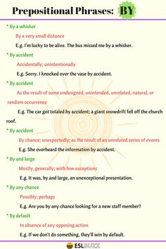 Prepositional Phrases with BY, AT, IN & FOR in English – Fluent Land