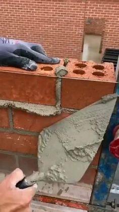 Bungalow House Design, House Front Design, Small House Design, Building A Brick Wall, Building A House, Architect Design House, Civil Engineering Design, Brick Laying, Brick Masonry