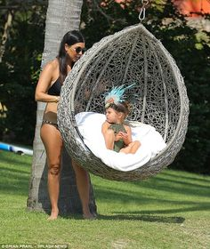 Luxury: The pair enjoyed the beaches of family friend Joe Francis' private estate Casa Ara...