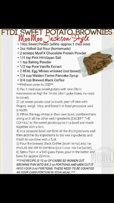 FTDI Sweet Potato Brownies