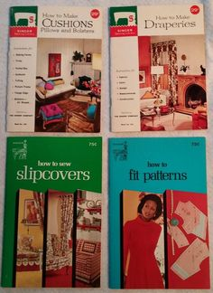 LOT 4 Vintage SINGER Sewing how To fit patterns slipcovers draperies cushions