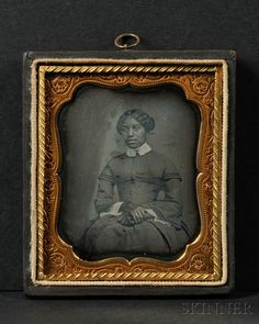 Sixth Plate Daguerreotype Portrait of a Young Black Woman