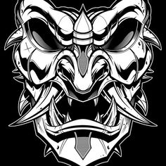 Mask blackline done. Will do the rest of the helmet and coloring later this week. #samurai #vector #illustration #sweyda #mask