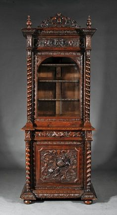 A Continental Renaissance-Style Highly Carved Oak : Lot 833
