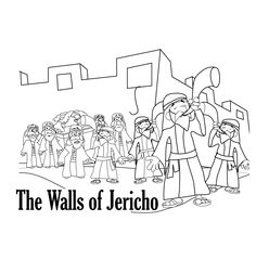 Walls Of Jericho Coloring Page Here Is A Bible
