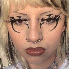 Punk Makeup, Edgy Makeup, Crazy Makeup, Makeup Goals, Pretty Makeup, Makeup Inspo, Makeup Art, Makeup Inspiration, Beauty Makeup