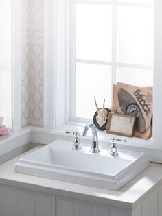 KOHLER | Bathroom Sinks - I like drop in sinks that stick up above the counter, is that weird?