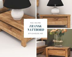 Bedside table VINCI 1005 made of natural wood is a perfect match to our beds VINCI and bed frames VINCI. Bedside, Bed Frame, Entryway Bench, Natural Wood, Table, Furniture, Home Decor, Homemade Home Decor, Bed Base