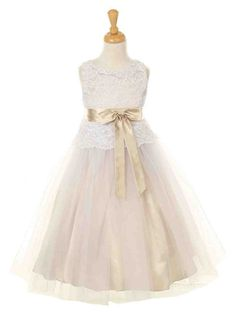 b48b336044f Champagne Colored Flower Girl Dresses - Wedding and Bridal Inspiration
