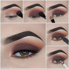 Eye Makeup Steps, Makeup Eye Looks, Eye Makeup Art, Smokey Eye Makeup, Cute Makeup, Simple Makeup, Makeup Inspo, Eyeshadow Makeup, Makeup Tips
