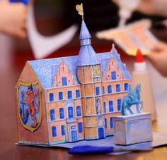 PAPERMAU: Dusseldorf City Hall Paper Model For Kids - by Dusseldorf Prefecture