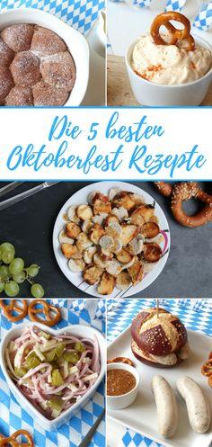 Was braucht man für das Oktoberfest zu Hause? Richtig, das perfekte Oktoberfest Essen. Hier 5 tolle Rezepte für die Wiesn zu Hause.