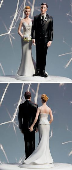 Chuckle...Wedding cake toppers