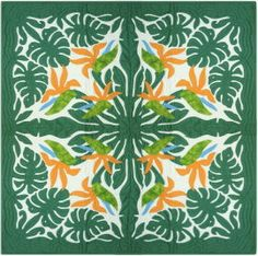 bird of paradise hawaiian quilt