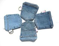Jeans-Taschen-Brieftasche mit Reißverschluss für von SmiLeStyles
