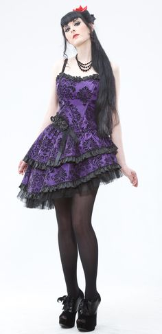 Lip Service Asymmetrical #Goth girl Dress