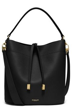 Free shipping and returns on Michael Kors 'Medium Miranda' Leather Bucket Bag at…