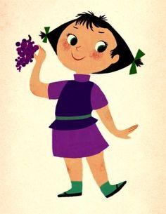 Grape girl  Mary Blair