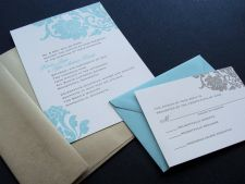 Colour ideas - different colours on invites and envelopes