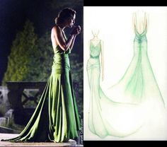 Keira Knightly's dress in Atonement