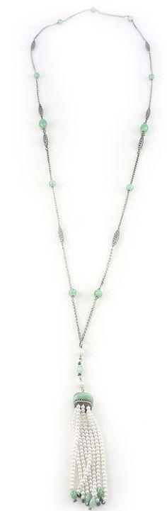 Victorian tassel necklace