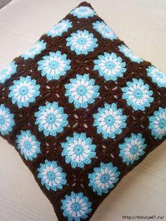 Transcendent Crochet a Solid Granny Square Ideas. Inconceivable Crochet a Solid Granny Square Ideas. Granny Square Crochet Pattern, Crochet Squares, Crochet Granny, Crochet Motif, Crochet Afgans, Crochet Patterns, Granny Squares, Crochet Cushion Cover, Crochet Cushions