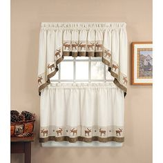 CHF & You Wildlife Tailored Tier Curtain Panel, Set of 2