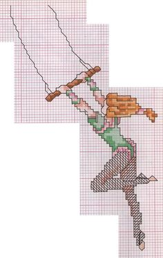 0 point de croix trapéziste  - cross stitch trapez artist