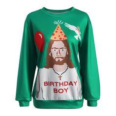 Pullover Jesus Graphic Sweatshirt | TwinkleDeals.com