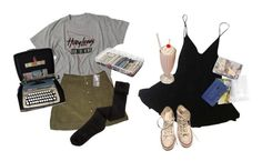 """""""twins"""" by kampow ❤ liked on Polyvore featuring KATHARINE HAMNETT, K. Bell, Converse, ArtBin, tumblr, pale, indie, grunge and aesthetic"""