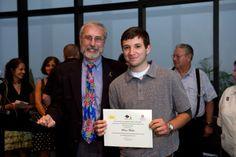 Brian Wecker, of Nesconset, right, with Robert Parker, MD, FAAP, Director of the Pediatric Hematology/Oncology program at Stony Brook Children's Hospital. (Photo Courtesy of Stony Brook Hospital).