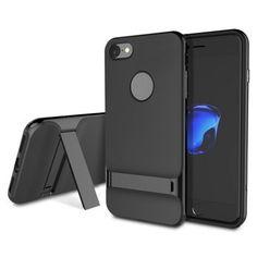 Seulement €11.38, acheter le meilleur Série royce biseautée cas kickstand tpu pc double couche de protection pour la pomme Rock Jet noir iPhone 7 Site de vente en ligne au prix de gros. US/UE direct.