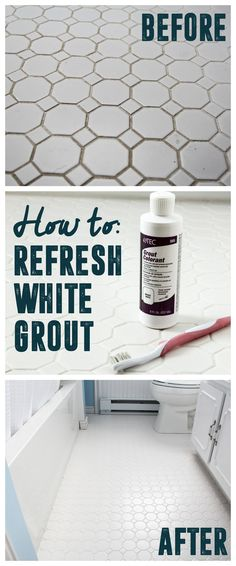 How to Refresh White Grout