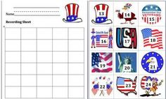 Memorial Day Counting and Skip Counting-29 Page Download-5 Counting Activities- Students place the Patriotic Symbols in order to show their ability...